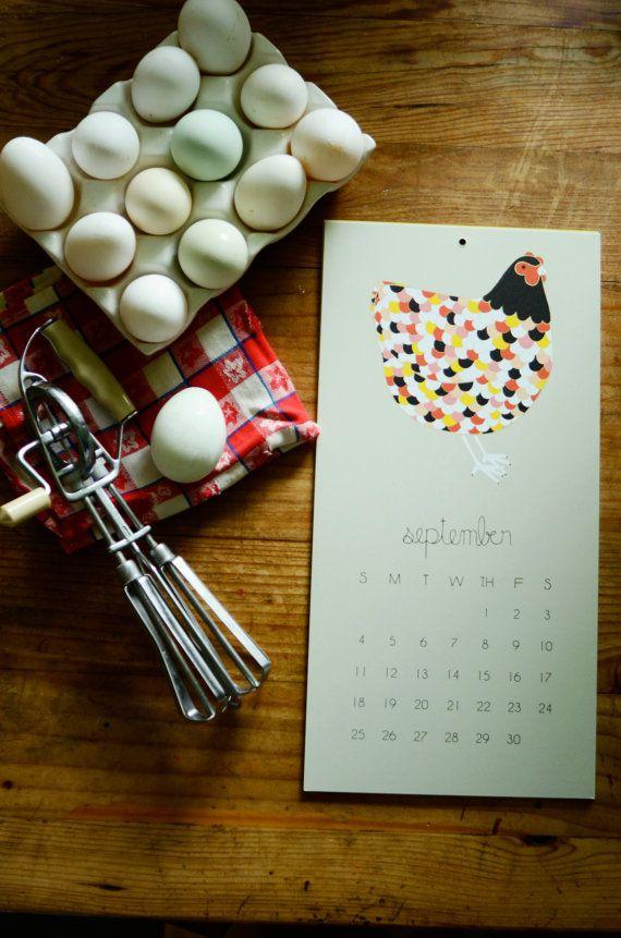 2016 Barnyard Wall Calendar Barnyard Calendar Wall by Gingiber