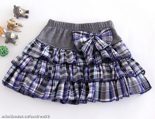 Dětské volánové řasené sukýnky SKLADEM sukně tutu