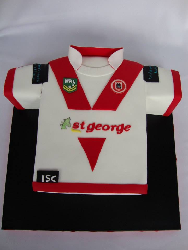 St George football jersey cake