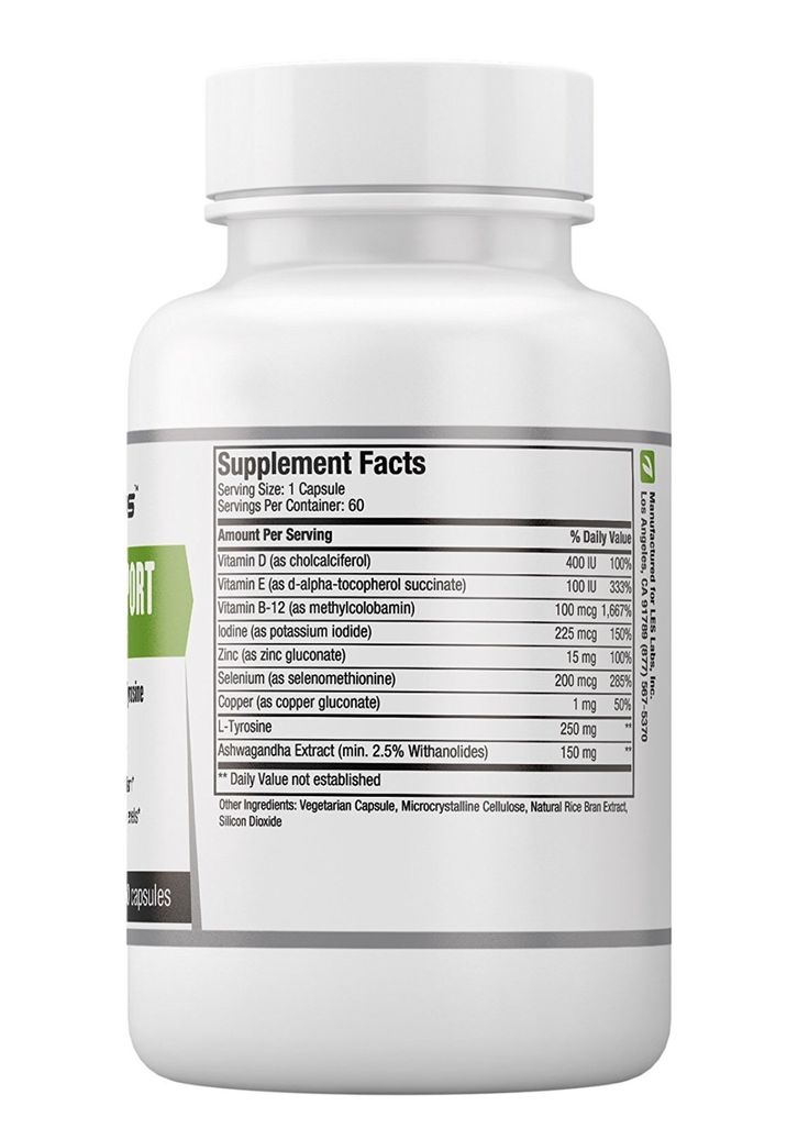 LESLabs Thyroid Support - 60 Vegetarian Capsules SUPPORTS ...