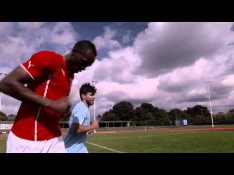 PUMA Football: Usain Bolt Speeds Up Sergio Agüero - football - http://sports.onwired.biz/baseball/puma-football-usain-bolt-speeds-up-sergio-aguero-football/