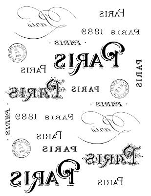 Los gráficos de hadas - DIY: Francés Transfer Imprimible - París Tipografía
