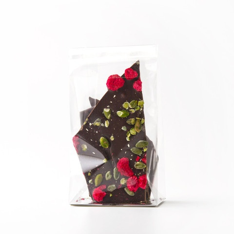 Ottolenghi dark chocolate, pistachio and raspberry brittle