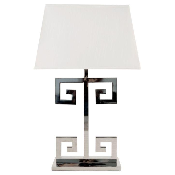 Clayton Greek Key Table Lamp By Worlds Away Clayton N Nickel Lamps Lamp Table Lamp