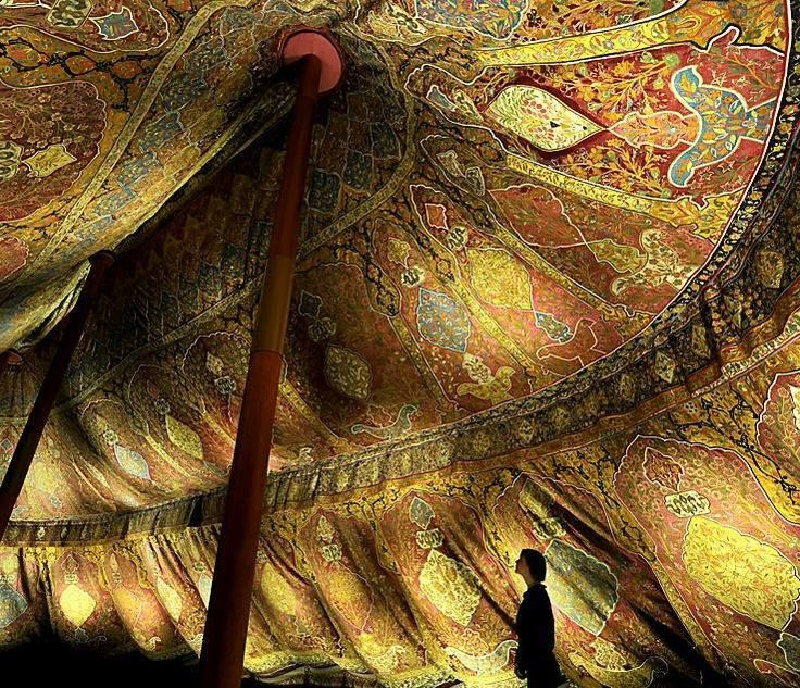 17th century Ottoman tent from the Dresden State Art Collections ~