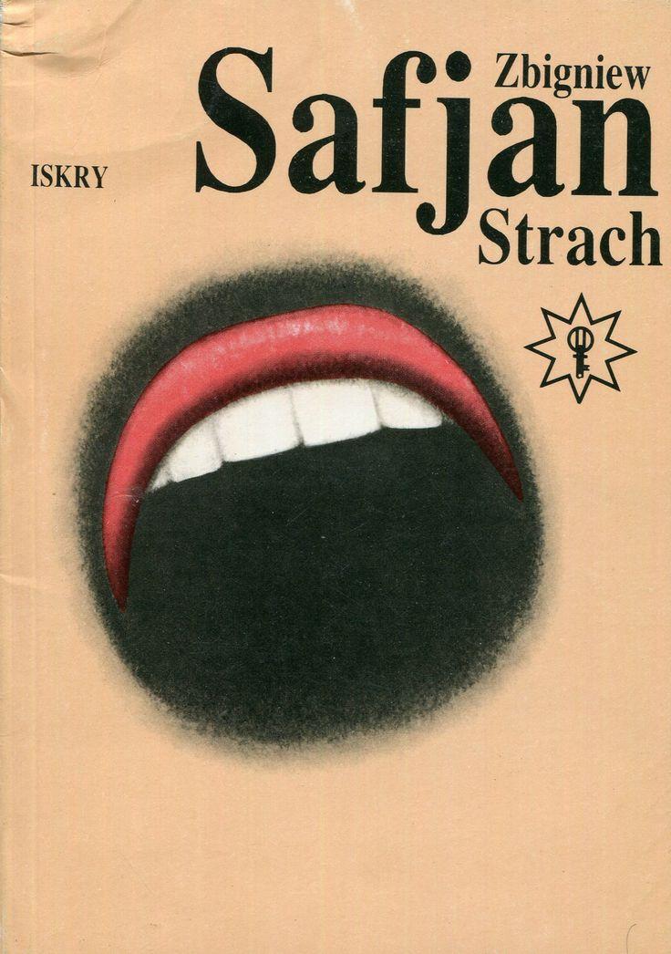 """""""Strach"""" Zbigniew Safjan Cover by Wiesław Rosocha Book series Klub Złotego Klucza Published by Wydawnictwo Iskry 1990"""