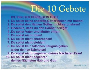 Heavens-Presents / Agnus-Dei-Verlag - Postkarte 10 Gebote