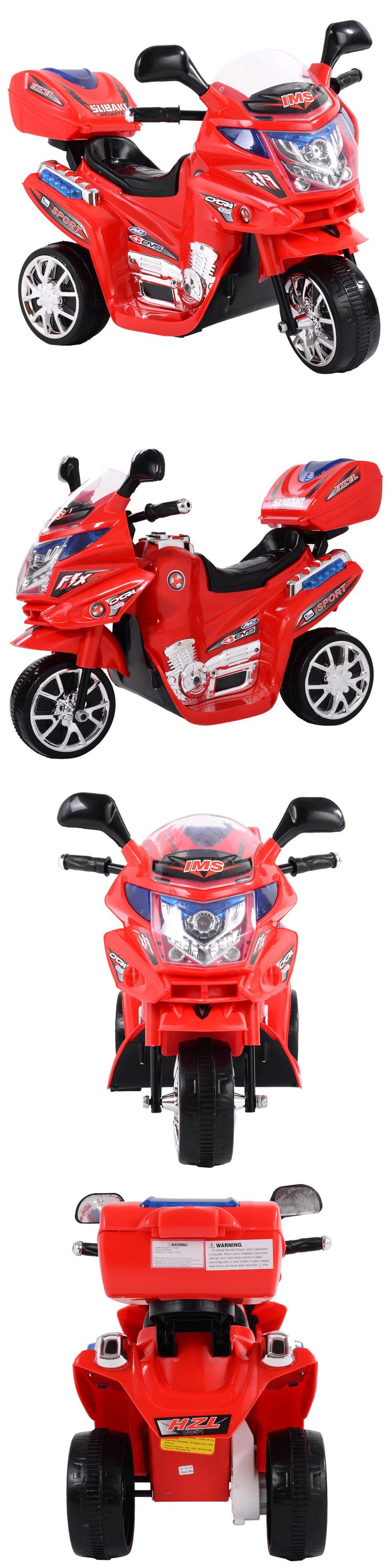 Ride On Toys and Accessories 145944: Kids 3 Wheel Electric Motorcycle 6V Bike Battery Powered Ride On Toy New Red -> BUY IT NOW ONLY: $41.99 on eBay!