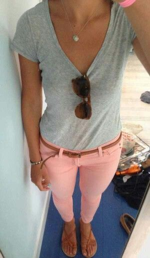 #cuteoutfit #casual #skinnyjeans #style #fashion #girly #comfy #gray #tshirt