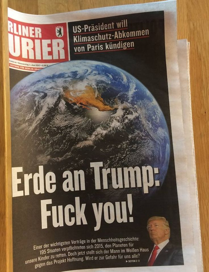 German newspaper about the Paris agreement