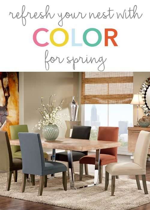 Once You Find A Great Dining Table Have Fun Trying Out Different Chair Color Combos