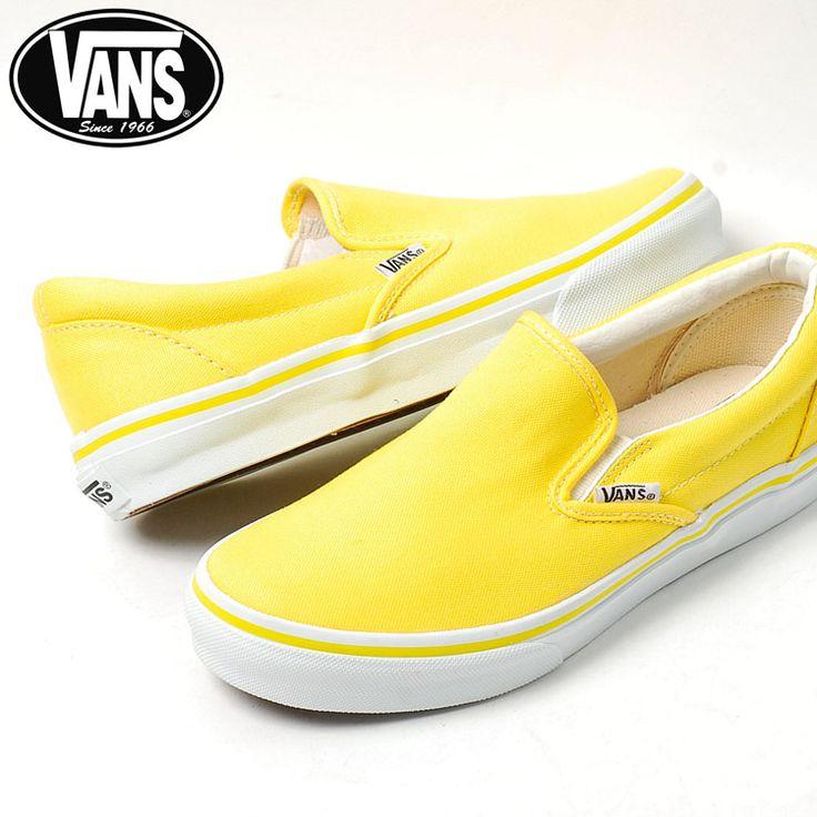 Yellow Vans Slip Ons