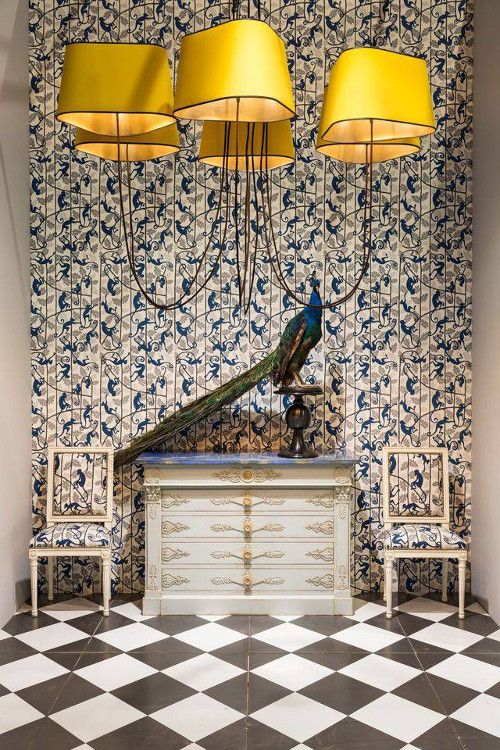 papier peint bennison lustre designheure papiers peints pinterest cuisine puzzles et singe. Black Bedroom Furniture Sets. Home Design Ideas