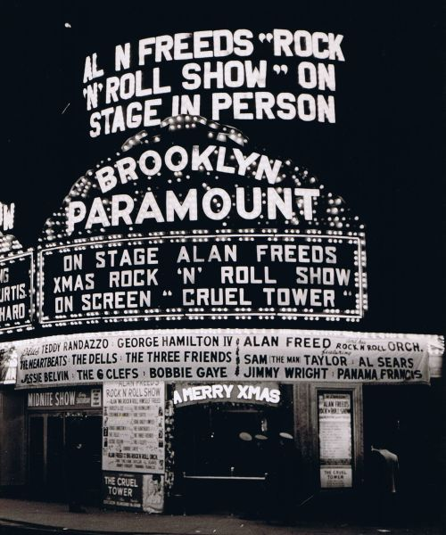 Alan Freed. Saw so many Rock n Roll shows here. It was riveting.