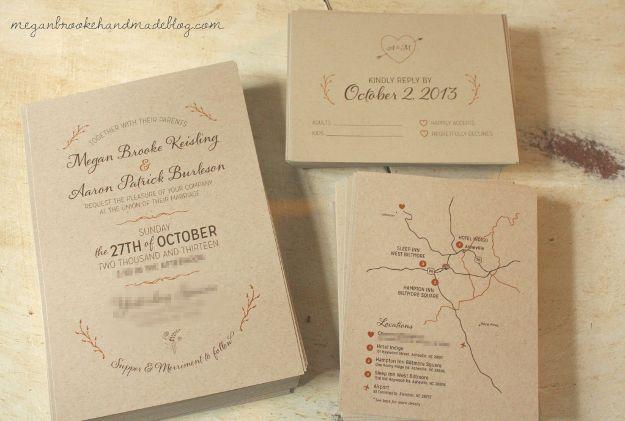 Custom Wedding Invitation Templates: De 25+ Bedste Idéer Til Gratis Invitationer Skabeloner På
