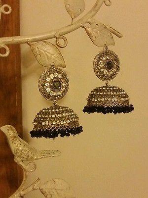 Pakistani fashion jewelry big jhumka earring bollywood jewlery ethnic