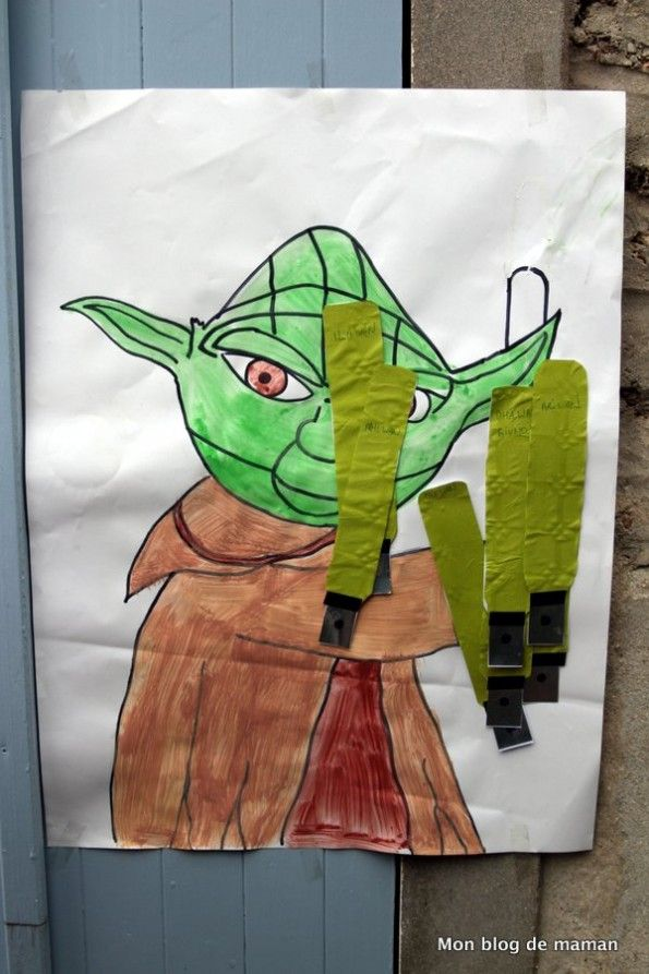 Animation pour un anniversaire Star Wars : la queue de l'âne version Yoda
