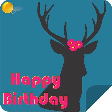 Deer o deer, happy birthday!