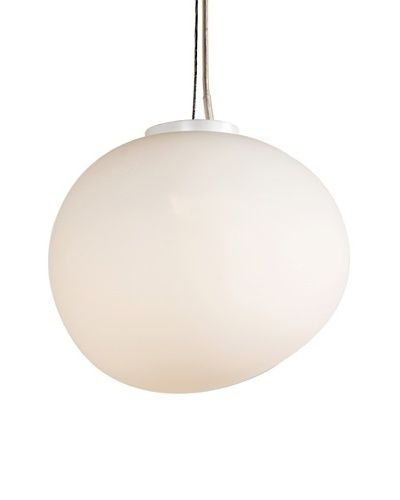 Control Brand Aura 1-Light Pendant, White As You See