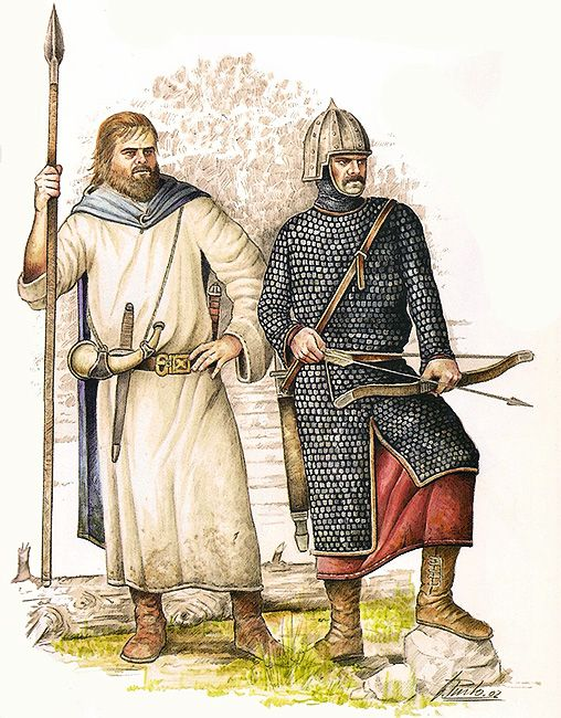 Early Middle Ages: Illustration of Visigoths, one of the Germanic peoples threatening Rome during this period