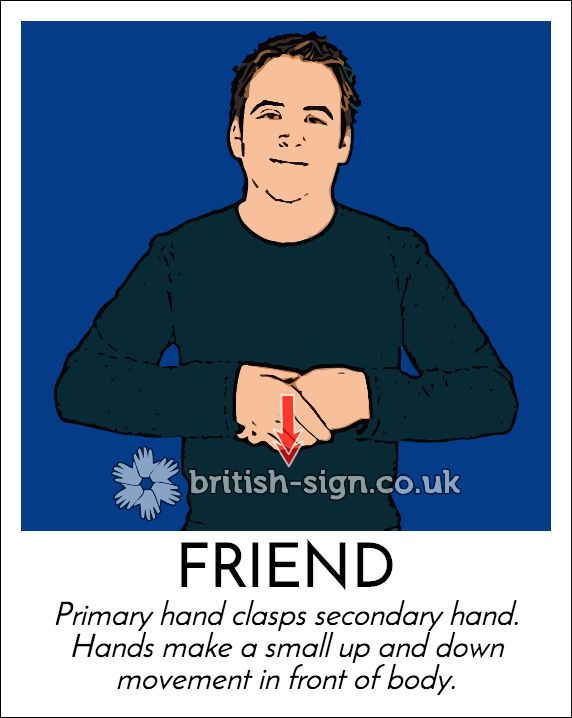 Today's #BritishSignLanguage sign is: FRIEND #MakeAFriendDay