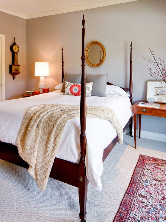 Traditional bedroom furniture mixed with modern touches