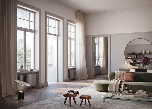 Today I'm sharing some beautiful interior imagery from two recent projects by Swedish firm Oscar Properties . I love the contemporary look a...