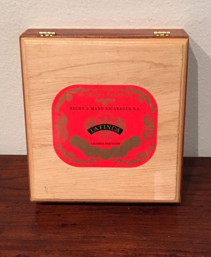 La Finca Nicaragua Wooden Cigar/Trinket/Jewelry Box, Bolivar 1999  | eBay