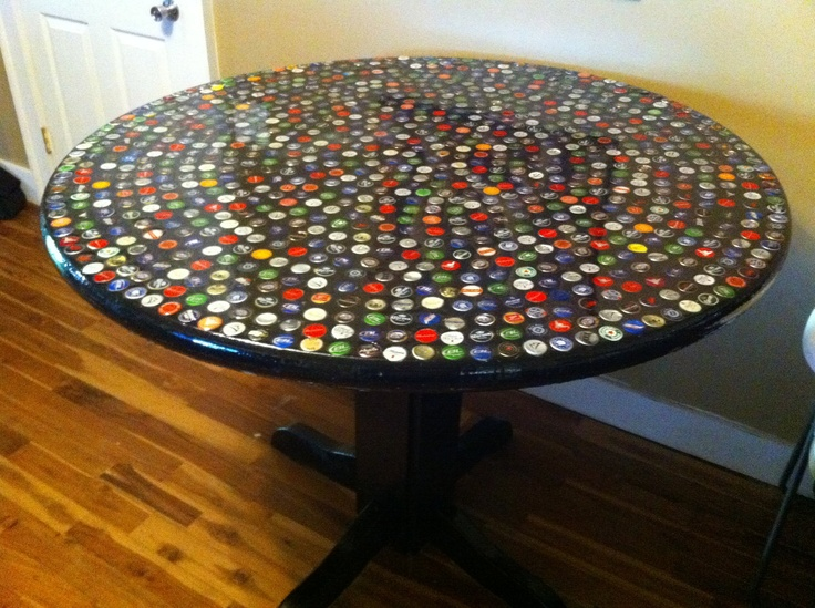 Bottle Cap Kitchen/coffee Table by psychobillykreations on Etsy, $1,499.00