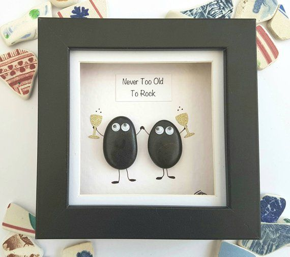 Pebble art friends gift, funny unique gift for mom, unique birthday gift, valentines day gift