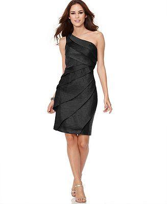 London Times Dress, One Shoulder Shutter - Bridesmaid Dresses - Women - Macy's T8 $69