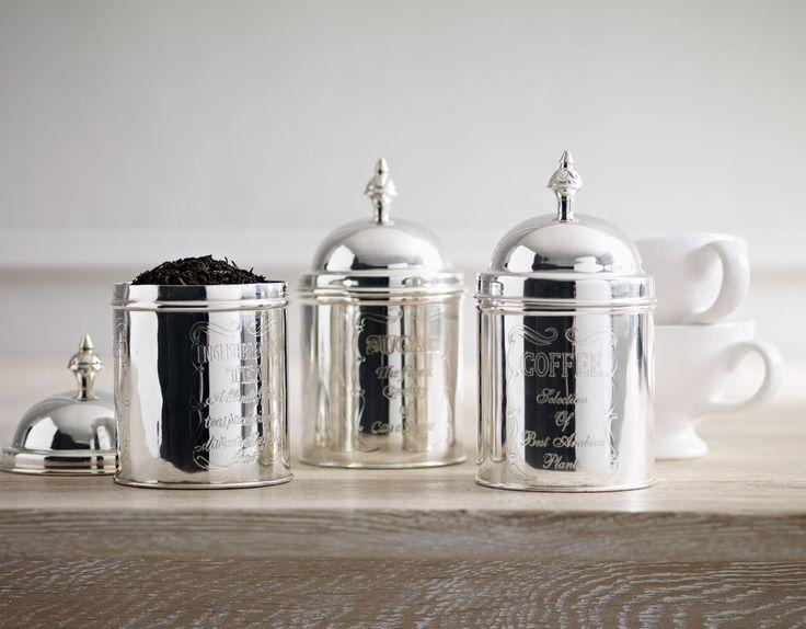 Silver Tea, Coffee and Sugar Caddies #MerryBrissmas