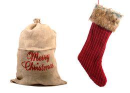 Cadeautjes uitpakken is fijn, zeker wanneer ze in een mooie verpakking zitten. Wat dacht je van een rode kerstsok met bontkraagje of cadeauzak 'Merry Christmas' van jute?  Rode kerstsok met bontkraag. € 11,99. Cadeau-zak van jute. € 4,99.  #kerst #eurotuin #gift #present #christmas14 #wishlist