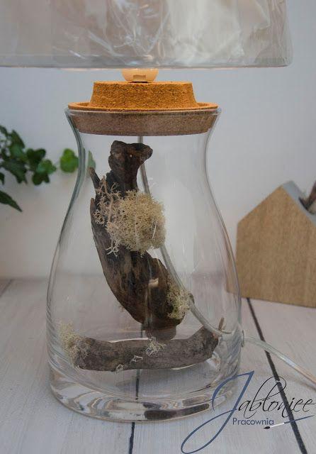 Leśna inspiracja, czyli lampa z drewnianym motywem