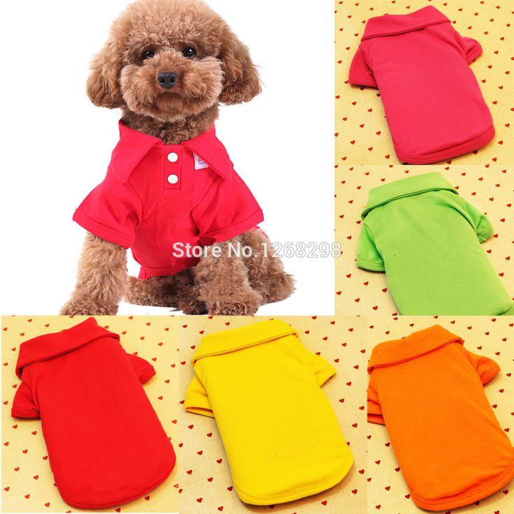 New Dog Pet POLO bonito fresco camisetas Doggy vestuário filhote de cachorro roupa tamanho XS sml XL em Roupas e Sapatos de Casa & jardim no AliExpress.com | Alibaba Group
