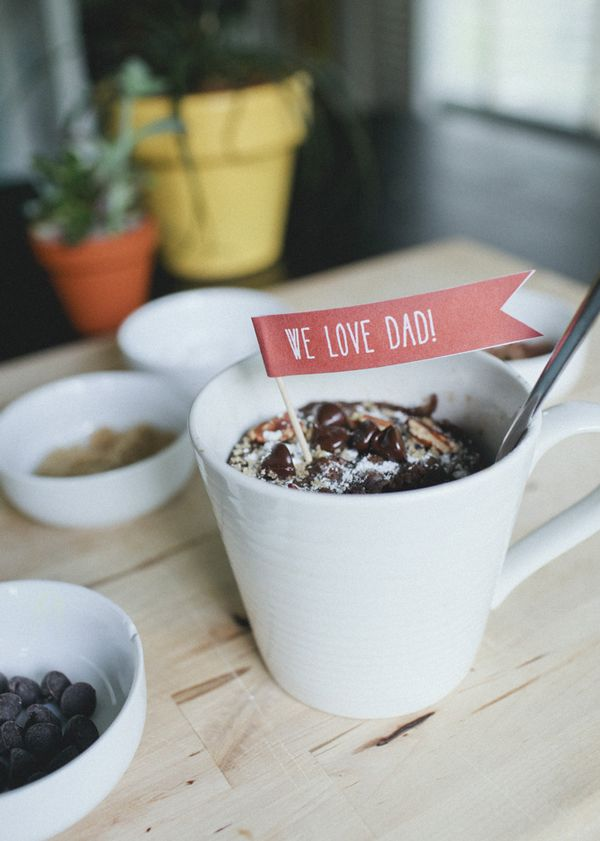 Mug Cakes With Printable Father's Day Tags   A Subtle Revelry