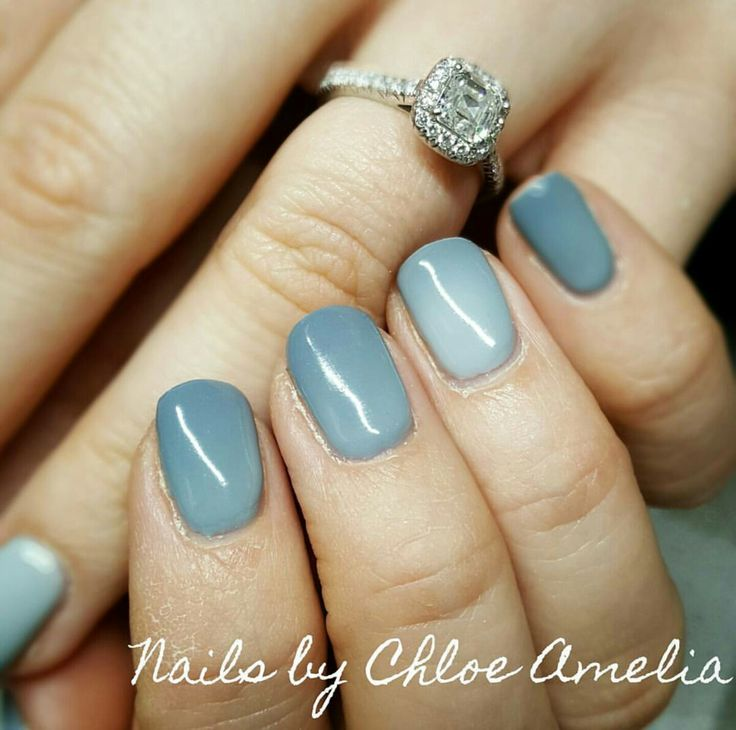 Temperature change nails- Calgel Manicure- Grey nails