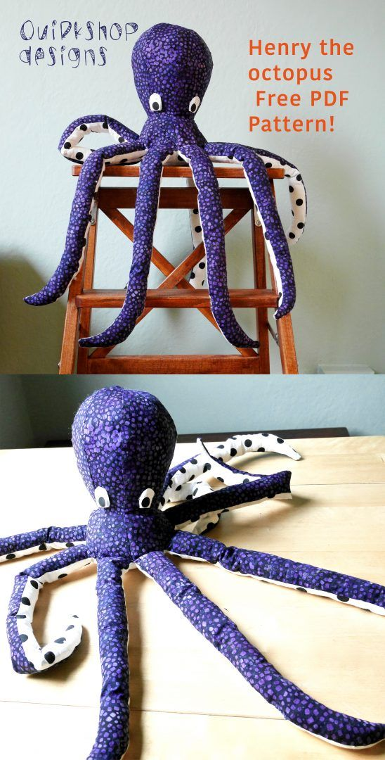 Free Octopus Sewing Pattern If Only I Could Sew