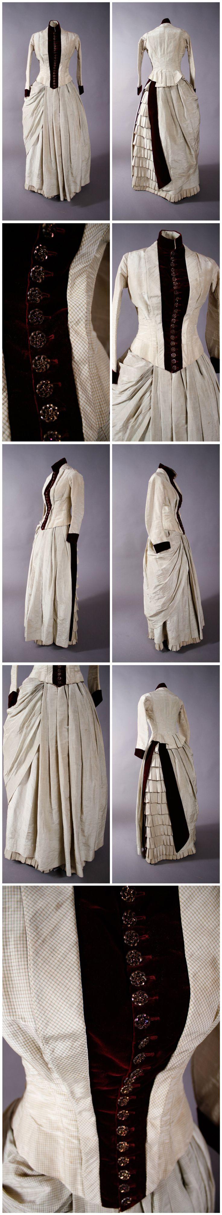 Bustle dress, c.1883-1884.