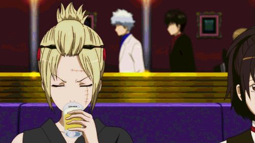 Tsukuyo as Gintoki, Shinpachi & Hijikata try to be hosts at the host club