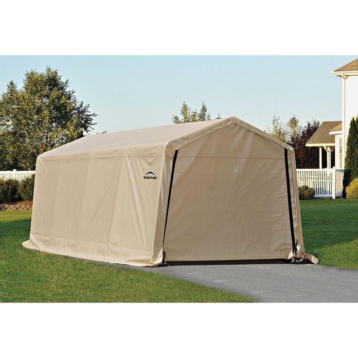 Shelterlogic AutoShelter 1020 Instant Garage 10' x 20' x 8', Tan (Polyethylene) #62680