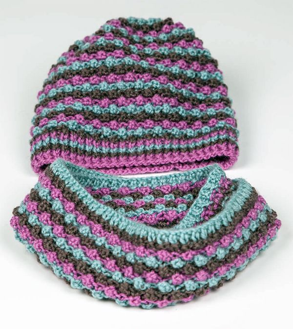 366 best knit crochet hats with color pattern images on pinterest free wednesday only knitting pattern for bobbly hat and snood for babies and toddlers dt1010fo