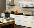 Natural stone in a kitchen.