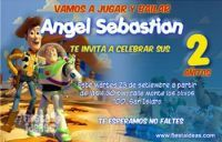 invitacion_Woody y Buzz Lightyear de Toy Story