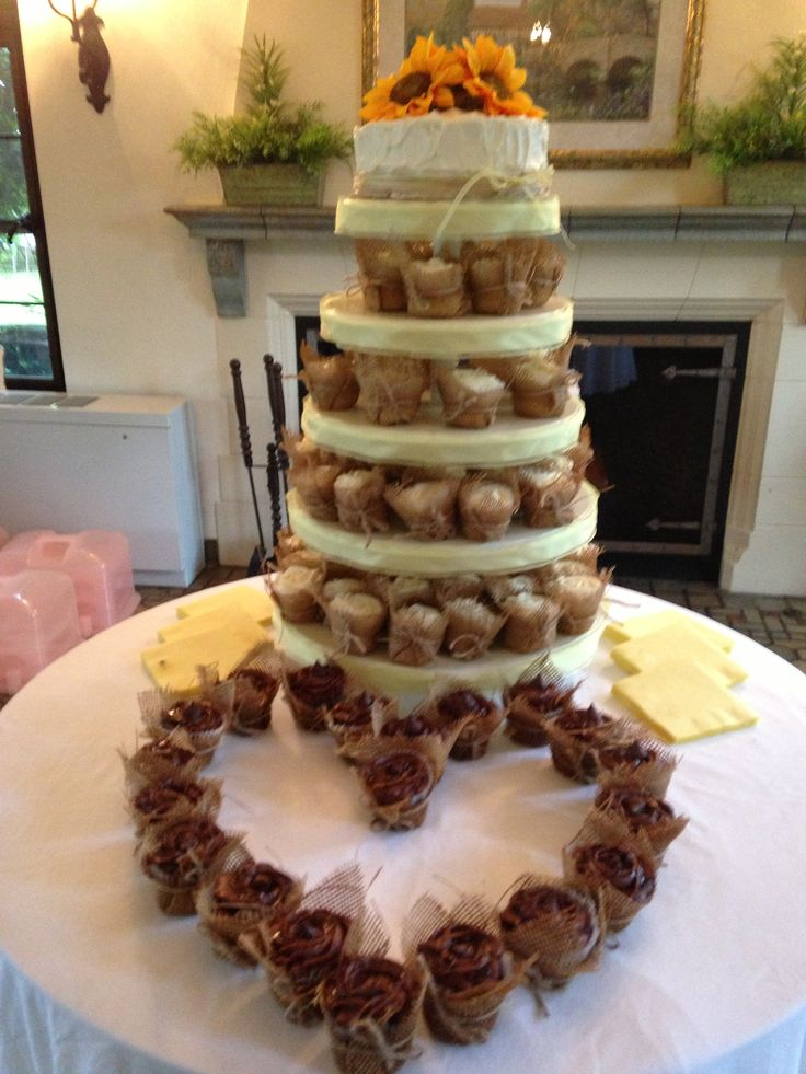 Rustic Wedding Cupcake Castle