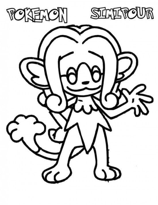 pokemon simipour coloring pages