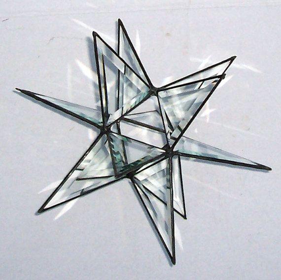 Large Beveled Glass Moravian Star Star of by Suncatchercreations