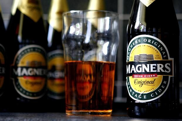 Bottles of Magners cider