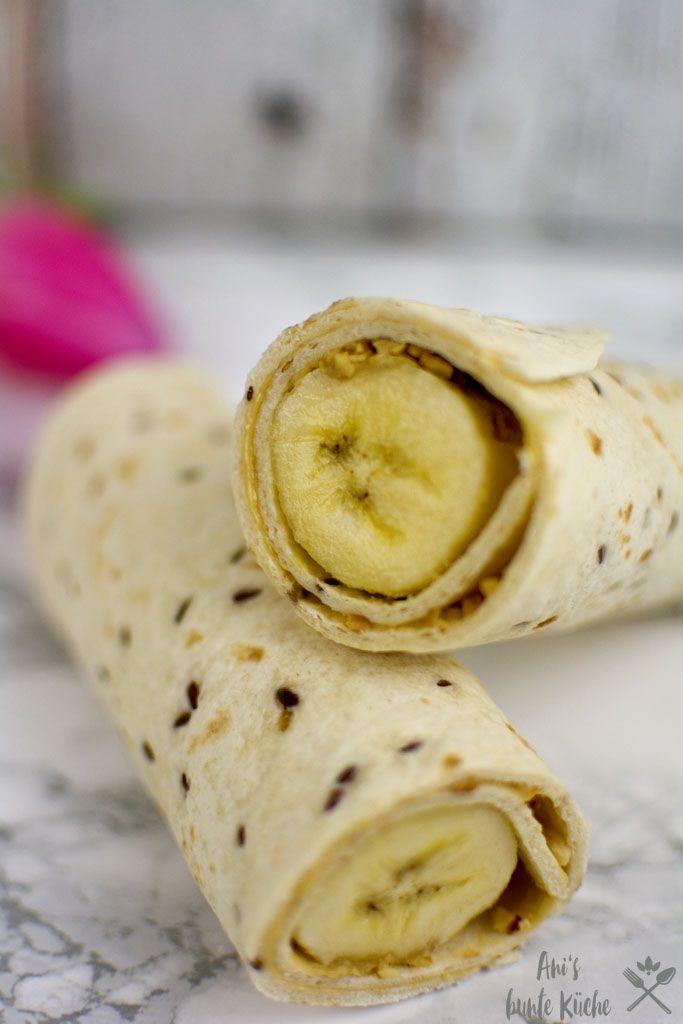 Erdnussbutter-Bananen-Frühstücks-Verpackungen   – frühstück