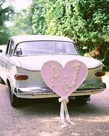 Wedding car decoration viv-s-wedding